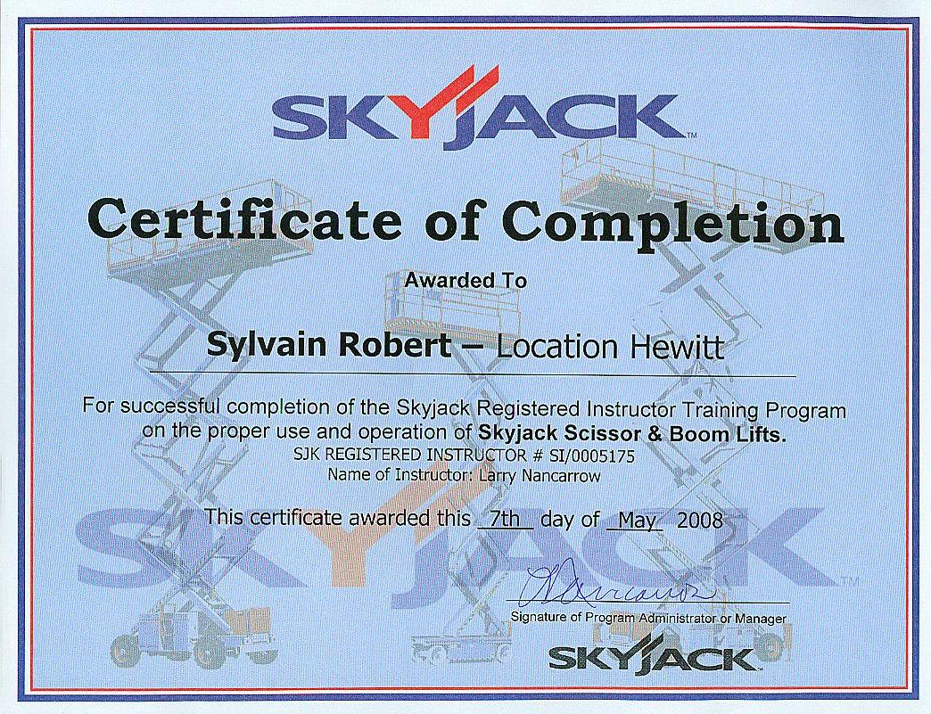 skyjack instructeur